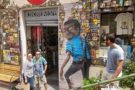 Einkaufen auf Marseille im Panier