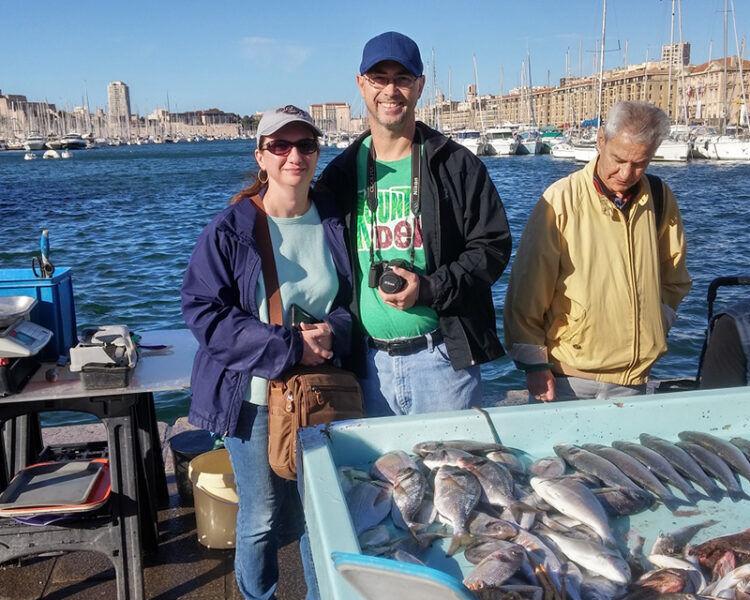 Marché aux poissons sur Marseille