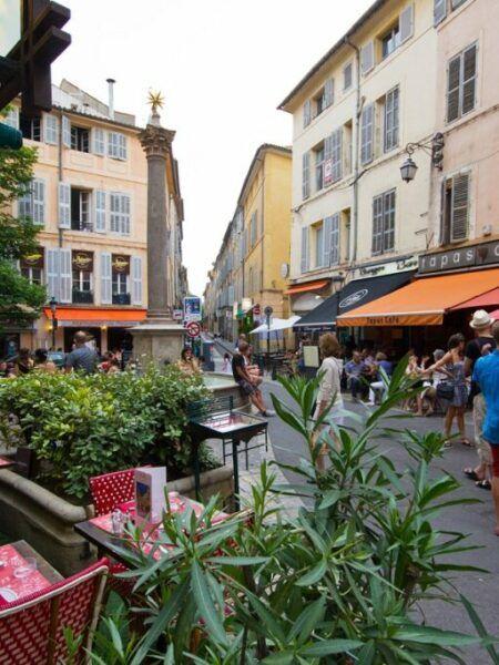 Fußgängerzone in Aix